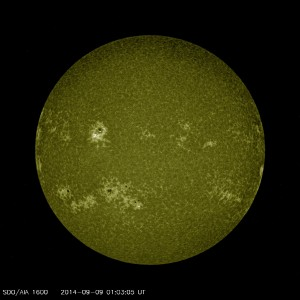 AIA 1600 image of the Sun during the M4.56 Flare on 9/8/2014