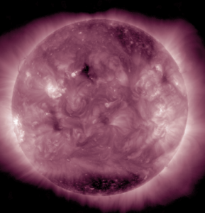 Southern Coronal Hole on 1/24/2015 in AIA 211