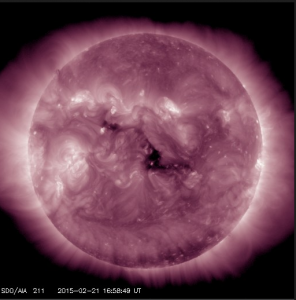 AIA 211 image of coronal hole