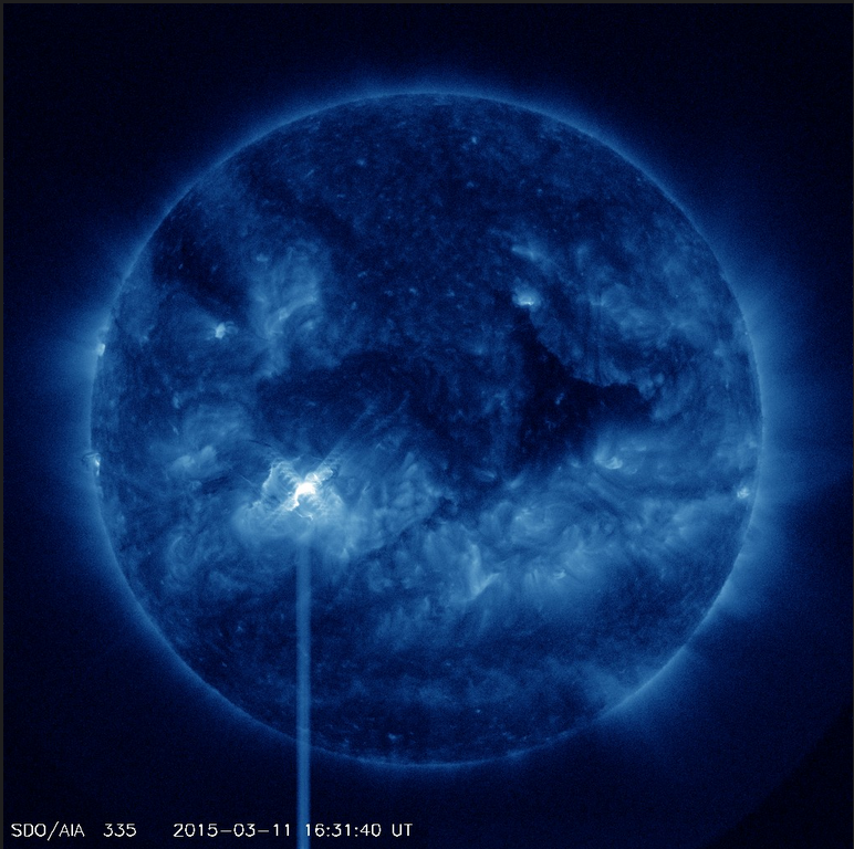 X2.2 Flare in blue