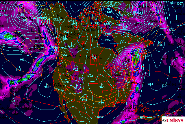 1/29 GFS model run shows the storm may move fast enough to provide many viewers with clear skies