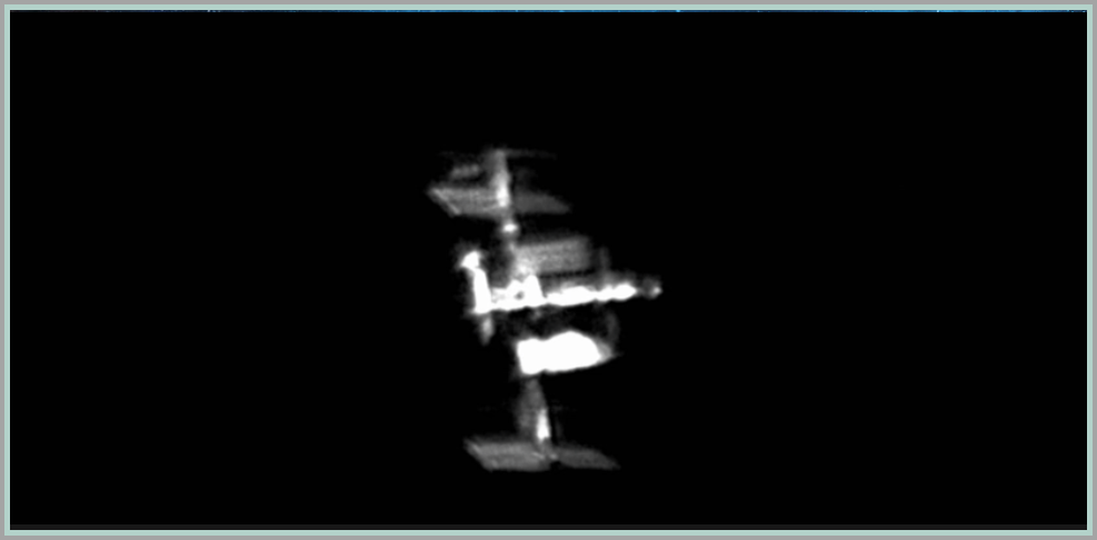 ISS captured from Earth by Astrophotgrapher Roger Hutchinson in April 2016