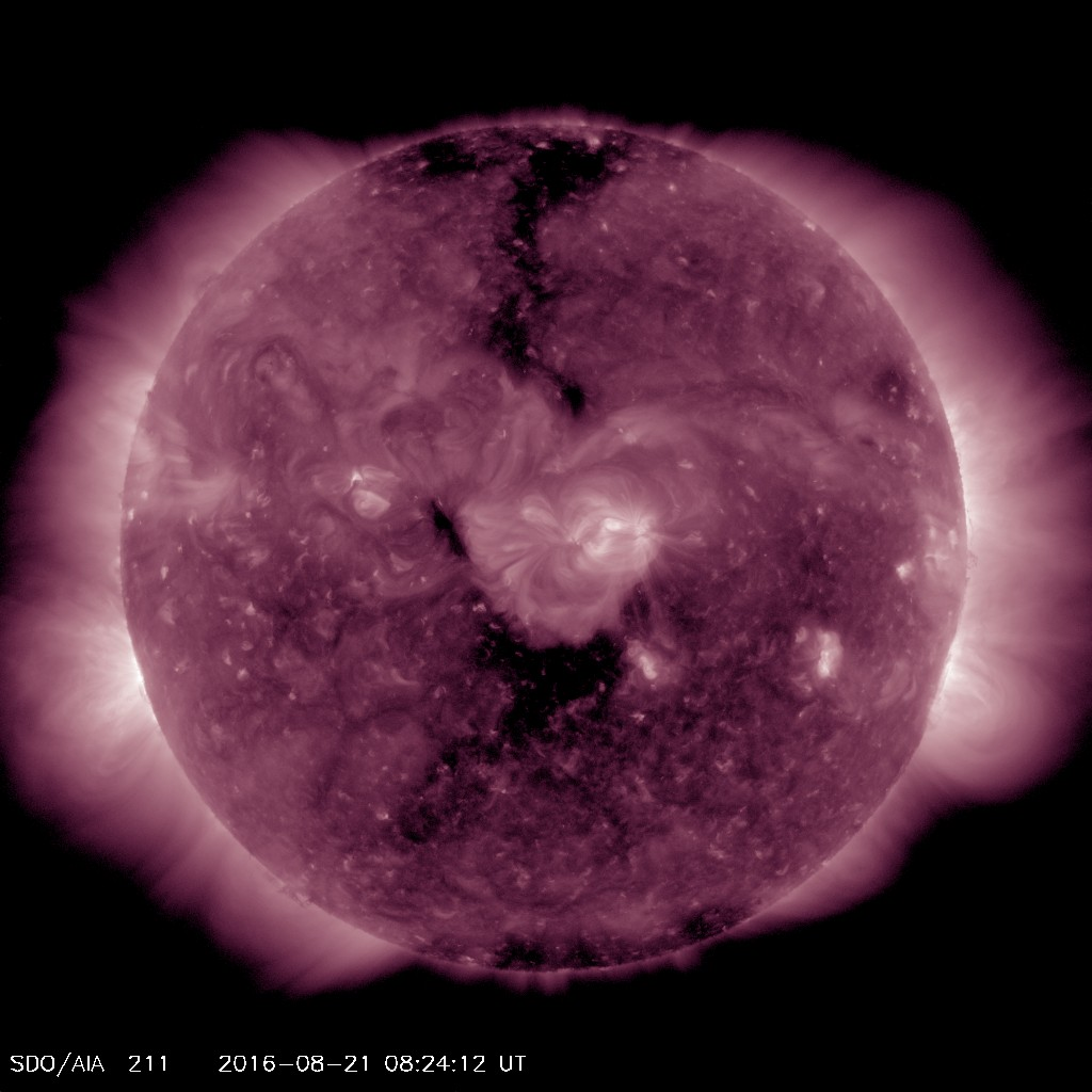 Aug 21 coronal hole produces Aurora and G1 storming on Aug 23rd and 24th