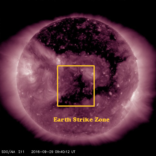 One final leg of this large coronal hole