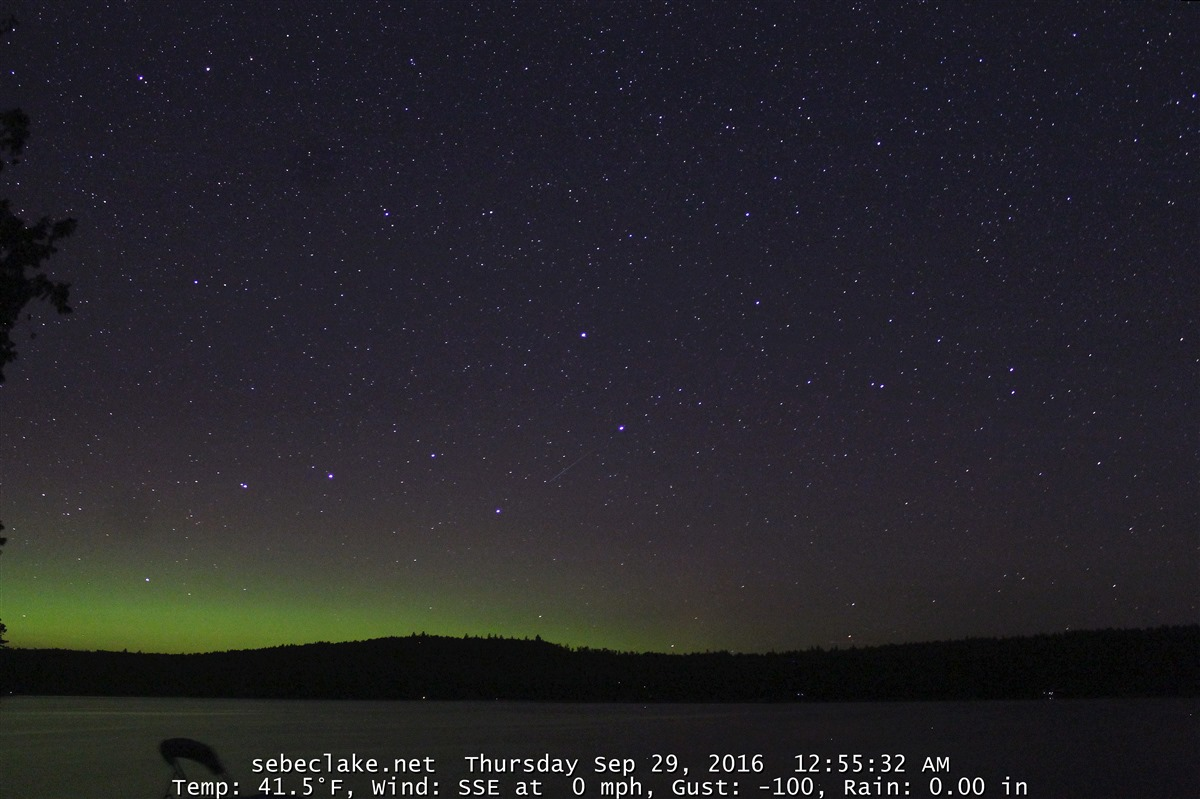 More northern lights visible on Sebec Lake webcam