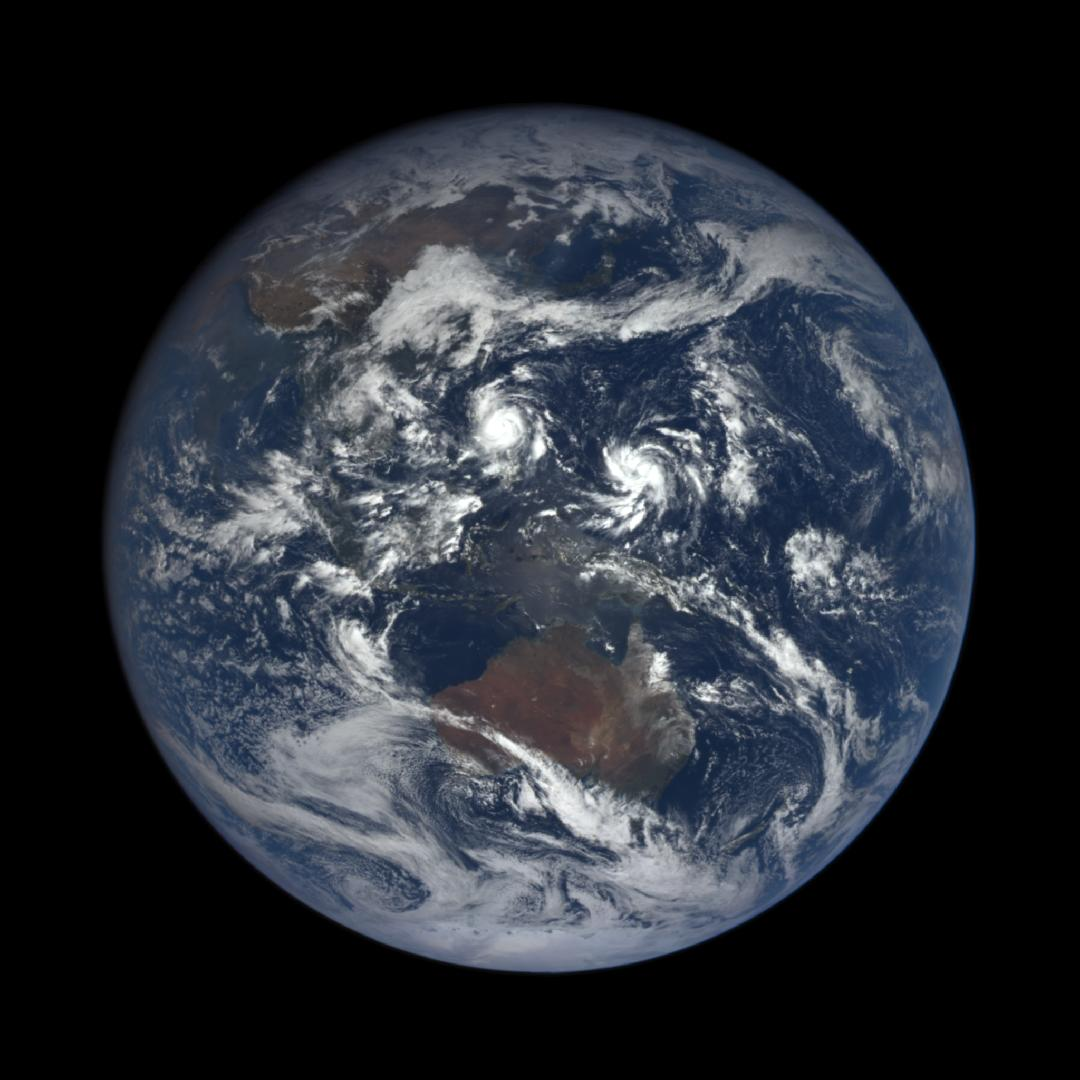 """Blue Marble"" style image of Earth from EPIC camera on October 17,  2016"