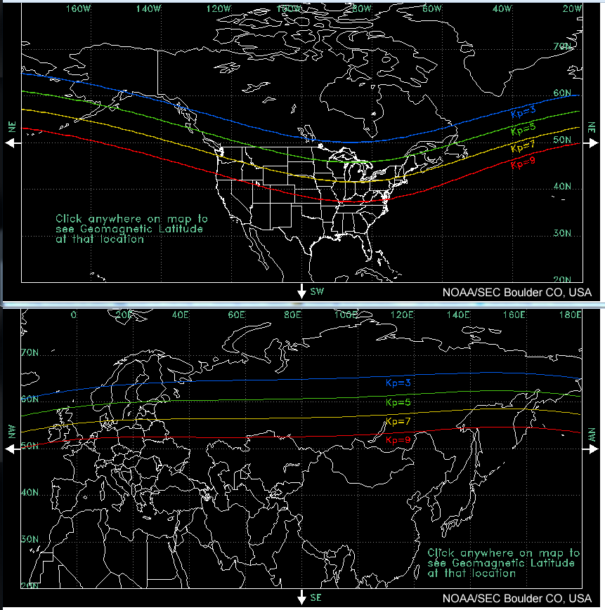 Global KP boundaries map shows what KP you need to see Aurora