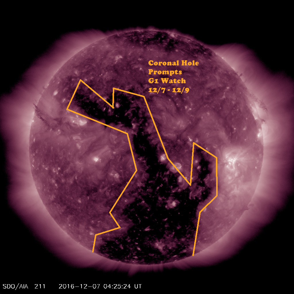 Current view of this month's Coronal Hole