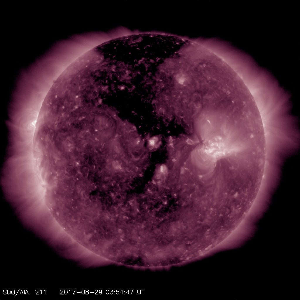 Coronal Hole Pointed Towards Earth on August 29