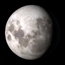 Waning gibbous moon, similar to how it will look the night of March 23/24